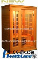 2 person canada imported Hemlock carbon nano heater far infrared sauna sale CE CETL RoHS