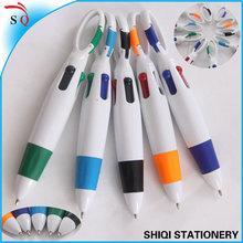 carabiner logo multi color plastic ballpoint pen