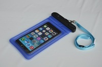 Clear Floating Waterproof Phone Holder Case Pouch with Lanyard For Apple