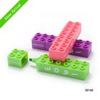 Toy bricks highlighter set
