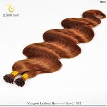 Italian Keratin Glue Double Drawn Human Remy hair extensions italian keratin aaaa