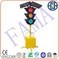 fácil instalación mobil solar traffic light 3 años de garantía