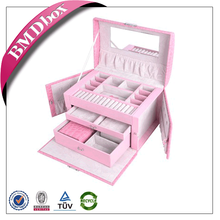 wholesale luxury leather jewelry box unique birthday gift for lover