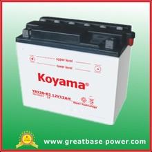 Start motorcycle battery YB12B-B2(12v12Ah) ATV batteries