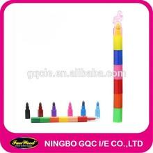 Wax crayon, shaped stacker crayon, accept customized designs