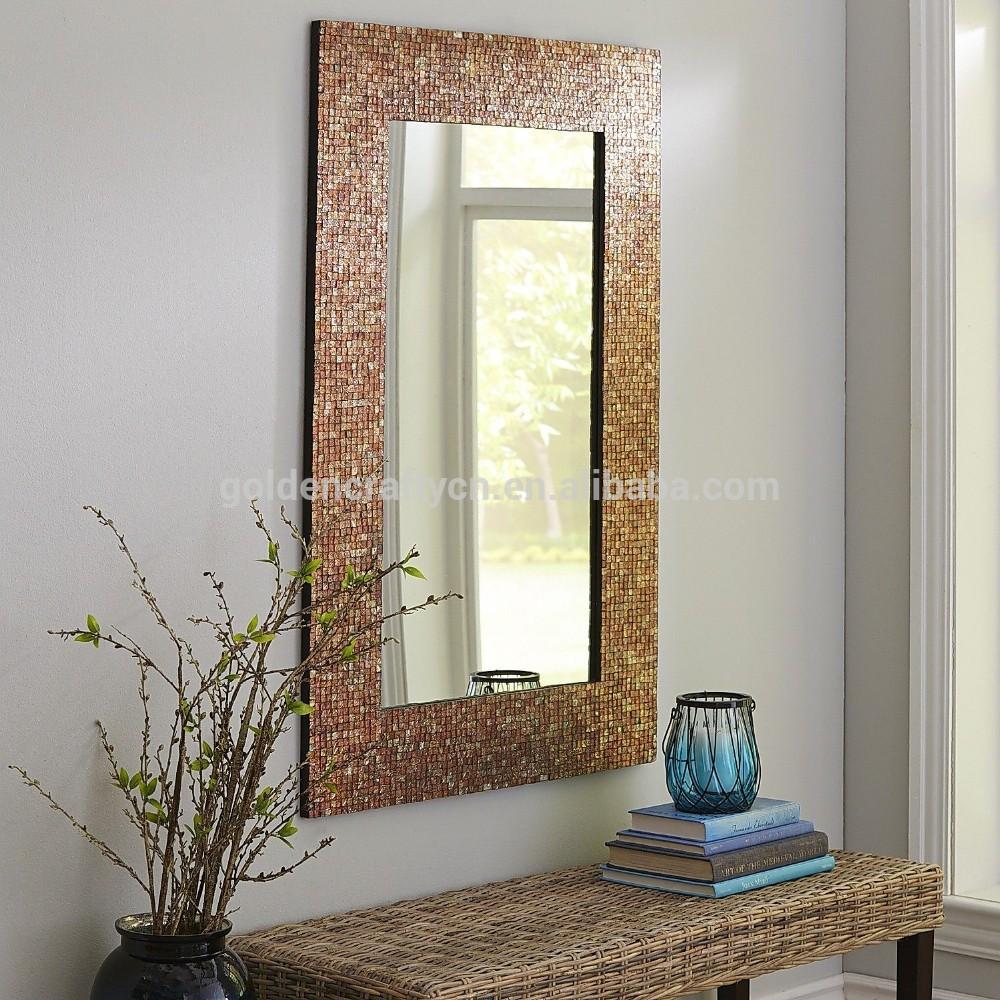 wall decor mosaic glass tile frame mirror