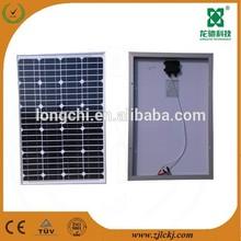 high efficiency 100w monocrystalline solar power panel