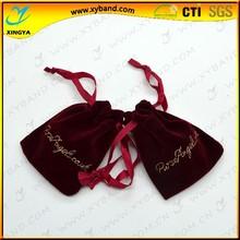 Hot sale velvet custom bag for gift