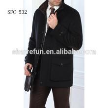 Kore moda kış yün erkek mont