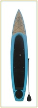 14' longboard SUP/fish board with special big deck pad and flat nose
