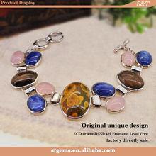 fashion jewelry set bulk buy from china ocean jasper 925 silver gemstone wholesale new models bracelets