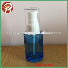 Revêtement bleu 30ml fondation. bouteille bouteille en verre avec pompe spray tbwr- 21