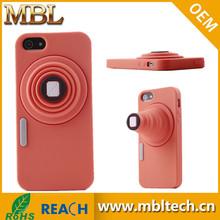 Camera design Soft Silicone Rubber Skin Cover Case For iPhone 5 (orange)