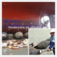 Batam shipyard floating dock ship launching airbags