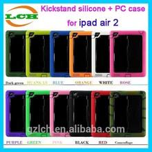 Neoprene sleeve with fashional kickstand case for ipad air 2