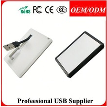 advertising gift business card usb 2.0 micro 5 pin male and female , 256gb credit card usb flash drive