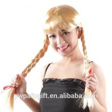 Ladies Blonde Schoolgirl Plait Oktoberfest Heidi Fancy Dress cosplay Wig