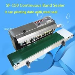 enlish panel continuous band sealer machine automatic plastic bag sealer