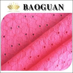 100% cotton embroidery fabric yardage sample