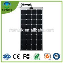 Hot sale new style price 100w semi flexible solar panel