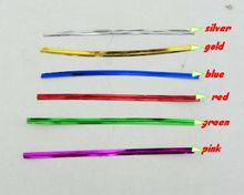 Food use wired twist tie and metallic wire twist tie