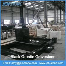nuevo estilo europeo lápida de granito negro
