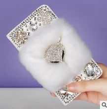 Fox shape new design CZ diamond shining case for Iphone 4S with cony hair