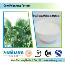 ISO Factory Supply Natural Sex enhancer Saw Palmetto Extract with 45% Fatty Acid