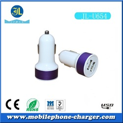 Factory selling colorful mobile phone accessory mini usb car charger for cellphone