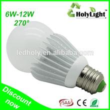 SAA CE RoHS Approval 8W SMD or E27 Aluminum & Plastic Light gu10 led bulb