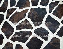 Leopard grain PU leather