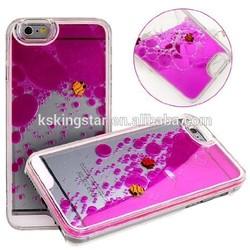 Creative Design Flowing Liquid Swimming Fish Hard plastic Case for iPhone 6