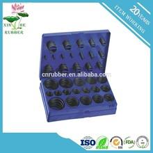 8B 407PCS NBR O Ring kit , NBR70SH Blue 407PCS Metric o ring assortment
