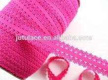 3/4'' frilly elastic , Fold over elastic , headband strech lace elastic wholesale