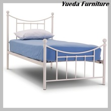Stylish Metal Single Bed 3FT Single Bed Frame in Grey