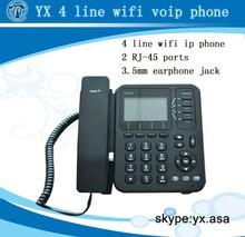 wifi sip desk phone 4 lines,cordless phone poe with 4 sip accounts,wifi desktop phone