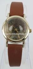 2014 latest cheap fancy lady wrist watch world map print watch