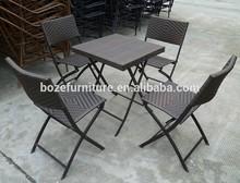 Outdoor furniture wrought iron rattan wicker dinning set table chair garden furniture