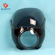 "5 3/4"" Motorcycle Headlight Cowl Fairing Motorcycle Cowl Fairing ABS Front Lamp Mask Fairing Cafe Racer Drag Racing 39mm Forks"