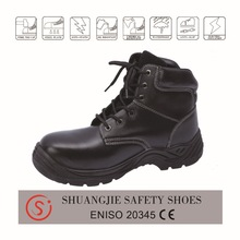 mid cut type cheap industrial safety steel toe shoes for men protective footwear black leather safety boots