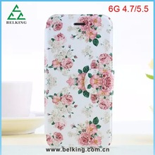 Cell Phone Protective Case For iPhone 6, for iPhone 6 Flip Leather Case, Flower Case for iPhone 6