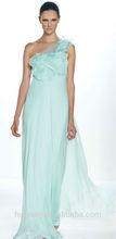 flowing one shoulder full length light blue mother of the bride dresses