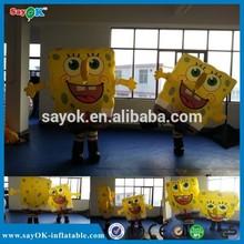 2014 hot new design factory direct inflatable sponge bob scouring pad sponge