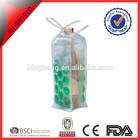 plastic single wine bottle gel cooler bag wholesale