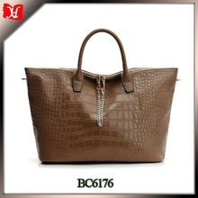 lady genuine leather bag name brand italian leather bag for women