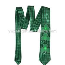 led st.patrick party plaid tie
