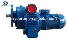 Mechanical stepless speed variator geared motor