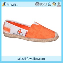Bright fashional handmade canvas shoes