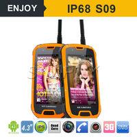 android 4.4 GPS 3G IP68 waterproof dual sim gsm walkie talkie phone