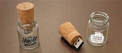 Newest bulk glass bottle usb flash drives